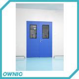 Portes d'oscillation affleurantes de vente chaudes en métal avec la glace de visibilité pour la nourriture ou les industries pharmaceutiques