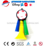 Brinquedo plástico da música do chifre Multitone do futebol para a promoção do miúdo