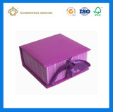 Rectángulo de regalo a todo color del papel de imprenta (con la cinta)