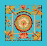 Heiße verkaufenform-Feder-Druck-Dame Silk Scarves