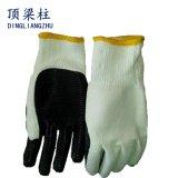 建設作業員のための薄板にされた乳液のやし上塗を施してある安全手袋