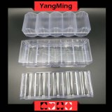 Chips de acrílico transparente de la caja (YM-CT07)