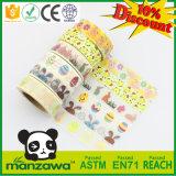 La cinta linda clasificada Pascua colorida de Washi del modelo de los huevos de los conejos del polluelo de los regalos de las artesanías de encargo para DIY adorna el enmascarado