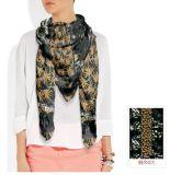 花パターン習慣のスカーフ