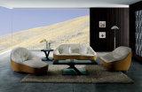 Sofá do couro genuíno da sala de visitas (SBL-9007)