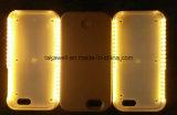 Cas annexe d'éclairage LED de téléphone mobile de caisse de téléphone du PC DEL de Bayer de qualité pour l'iPhone 5 cas de couverture du téléphone portable 6 6s