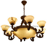 Iluminación europea de la decoración interior de Phine hecha de la lámpara pendiente de mármol española