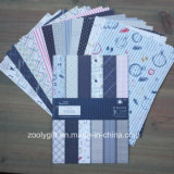 Papel modelado Scrapbooking original do bloco do papel do Scrapbook do projeto A5
