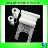 HDPE Plastikhandtaschen-Einkaufen-Beutel mit Griff mit Kern