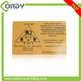 Silberne Karte des Druckens 125kHz EM4100 RFID mit der Seriennummer gedruckt