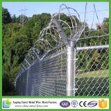 Загородка звена цепи обеспеченностью горячего DIP гальванизированная стандартная с колючей проволокой