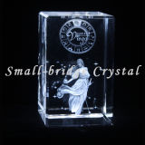 El laser del cristal 3D grabó al agua fuerte a virgo