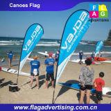 Bandeira ao ar livre da praia da bandeira do Teardrop do poliéster com fibra de vidro Pólo