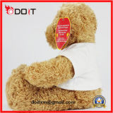 Orso gigante dell'orsacchiotto di Peluches dell'orso a grandezza naturale dell'orsacchiotto con la maglietta