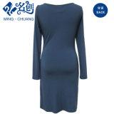 FrauenSlip-onform-Kleid-lange Hülsen