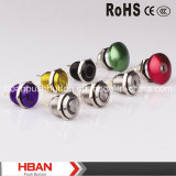 Nueva 16mm Push Button metal Mushroom Head con DOT-Luz