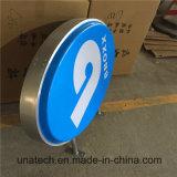 옥외 금융 업계 전시 LED 점화 표시 게시판 플라스틱 가벼운 상자