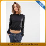 Nuove donne su ordinazione della maglietta felpata di disegno