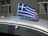 Изготовленный на заказ флаги автомобиля размера, удваивают, котор флаги встали на сторону автомобиля