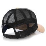 習慣6のパネルの野球の網の帽子の革トラック運転手の帽子