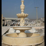 Marmeren Fontein mf-298 van de Woestijn van de Fontein van het Graniet van de Fontein van de Steen van de Fontein Gouden Lichte
