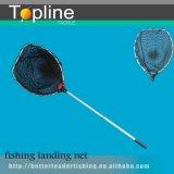 Red de aluminio del caucho de la pesca de la maneta
