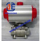 API/DIN Öl-pneumatisches Edelstahl-Gewinde-Kugelventil
