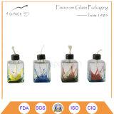 Lâmpada de tabela de vidro colorida do petróleo/querosene, lanterna decorativa