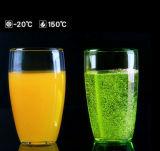 Taza de cristal Mano-Soplada taza de cristal de la cerveza de los pares de Latte