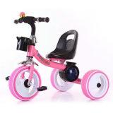Filashingの3つの軽い車輪を持つ子供のためのペダルの三輪車