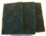Garnitures de récurage vertes de couleur verte