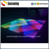 Vidrio Tempered caliente Dance Floor LED del RGB 3in1