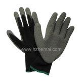 Fabricant enduit de la Chine de gant de travaux de construction de sûreté de gants de paume de latex