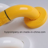 Haushalt Antibacterial Nylon Wrap Steel Tube Handrail Bathroom Armrest White&Yellow 400/500/600mm