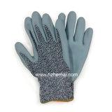 Gant de travail de sûreté de coupure de gants de fibre de Hppe de nitriles de mousse anti