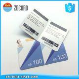 PVC pagado por adelantado del plástico de la impresión en offset con la tarjeta del rasguño