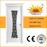 Heiße Verkaufs-ökonomische Innenbadezimmer PVC-Türen (SC-P181)