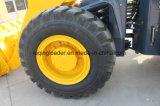 4 in 1 Lader van het Wiel van de Emmer de Motor van 92 KW 3 Ton van de Lader
