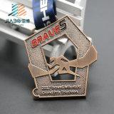Medaglia Bronze antica in lega di zinco del Triathlon del metallo di Jiabo per il commercio all'ingrosso