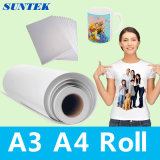 Papel do Sublimation do rolo de A3 A4 para a caixa do telefone da caneca do t-shirt