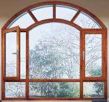 Finestra di alluminio insonorizzata della stoffa per tendine di vendita di alta qualità della rottura di colore di legno termico caldo del grano con i ciechi interni (ACW-056)