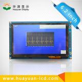 Indicador do LCD de uma cor de 7 polegadas atrás de uma porta plástica