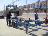 ディーゼル機関の材木の切断バンドはログの製材所機械を見た