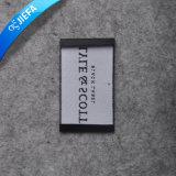 Etiqueta tecida retangular feita sob encomenda do preço de fábrica para a roupa