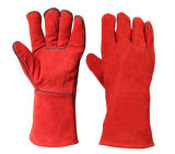 Перчатки красной теплостойкfGs руки заварки работы кожи безопасности защитные