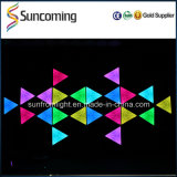 棒Club Decoration RGB 34 3D Effect Triangle LED Wall Backdrop
