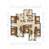 План пола средств типа дома зданий высоты