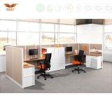 Portées L partition de personne de la bonne qualité six de bureau de Bureau-Postes de travail de forme