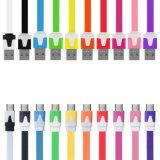 Cable de carga de la sinc. de los datos del USB 2.0 coloridos del micr3ofono para el teléfono y la tablilla androides de Samsung