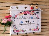 Contenitore dipinto a mano di amperometri del MDF dei ganci della parete dei fiori